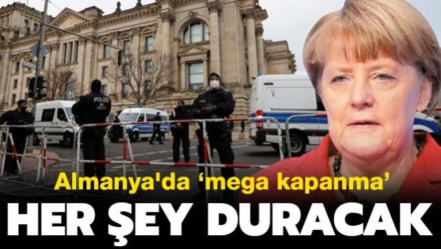 Almanya'da 'mega kapanma'