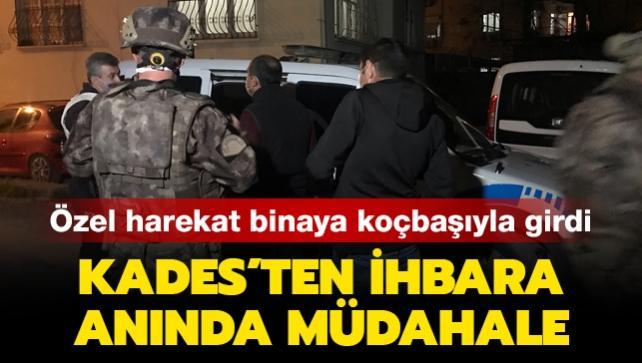 Özel harekat binaya koçbaşıyla girdi: KADES'ten ihbara anında müdahale