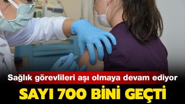 Aşılama için Ankara Şehir Hastanesi'nde 130 oda ayrıldı: Kovid-19 aşısı yaptıran sağlık çalışanı sayısı 700 bini geçti