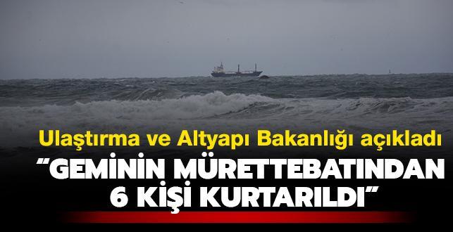 Bartın'da kuru yük gemisi battı... Ulaştırma ve Altyapı Bakanlığı: '12 personelden 6'sı kurtarıldı, 3 kişinin ise cansız bedenine ulaşıldı'