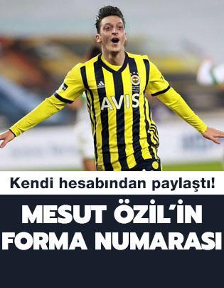 Mesut Özil'in Fenerbahçe'de giyeceği forma numarası belli oldu