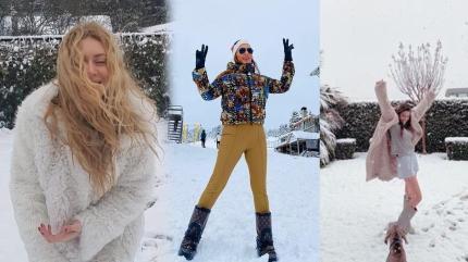 Sosyal medya beyaza büründü! Hande Erçel'den Demet Özdemir'e, Fahriye Evcen'den Buse Varol'a ünlülerin kar keyfi!