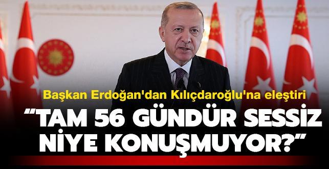 Başkan Erdoğan: 'CHP'nin başındaki zat partisindeki taciz ve tecavüz olaylarına tam 56 gündür sessiz'