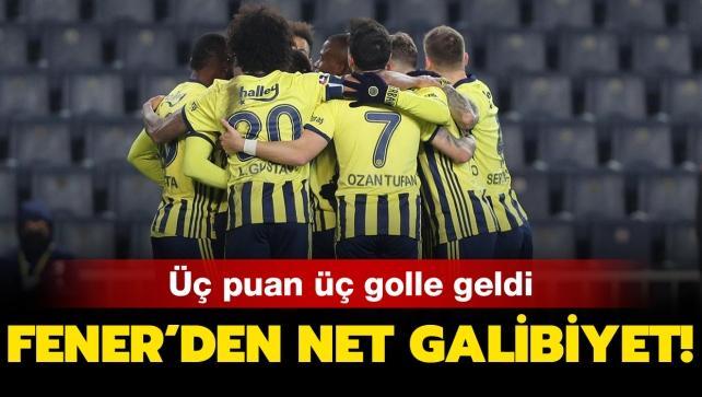 Fenerbahçe'den net galibiyet!
