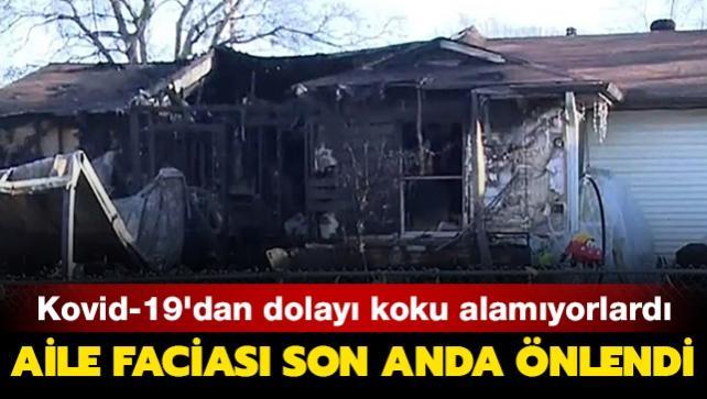 Koku duyusunu yitiren aile yangında yok oluyordu
