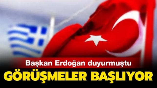Türkiye-Yunanistan arasındaki görüşmeler başlıyor