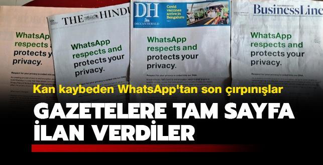 WhatsApp ne yapacağını şaşırdı: Gazetelere tam sayfa ilan verdiler