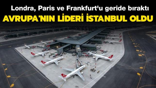 Londra, Paris ve Frankfurt'u geride bıraktı: Avrupa'nın lideri İstanbul oldu