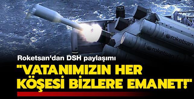 Roketsan'dan Denizaltı Savunma Harbi Roketi paylaşımı: 'Vatanımızın her köşesi bizlere emanet!'