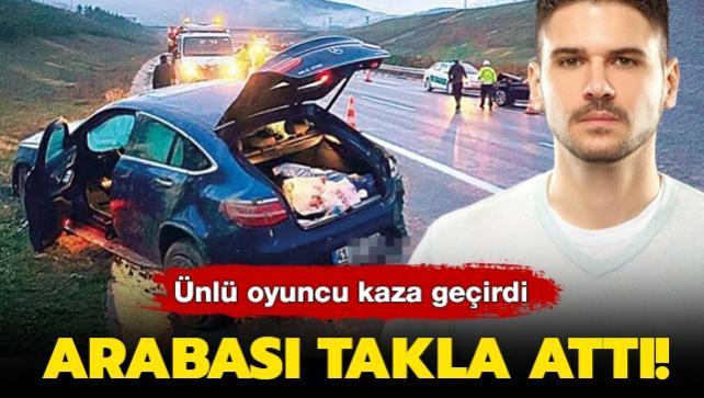Ünlü oyuncu kaza geçirdi