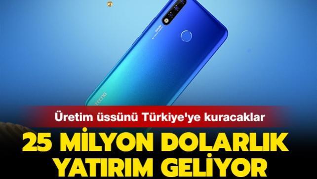 Üretim üssünü Türkiye'ye kuracaklar: 25 milyon dolarlık yatırım geliyor