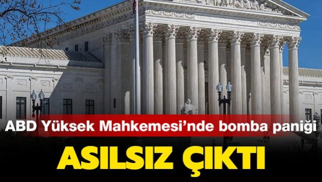 ABD Yüksek Mahkemesi'ndeki bomba ihbarı asılsız çıktı