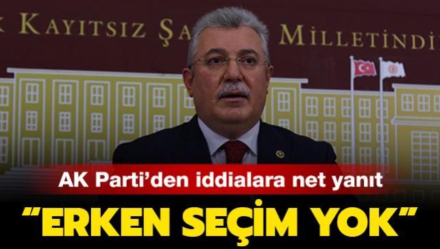 AK Parti'den erken seçim iddialarına yanıt: 'Her şey zamanında yapılacak'