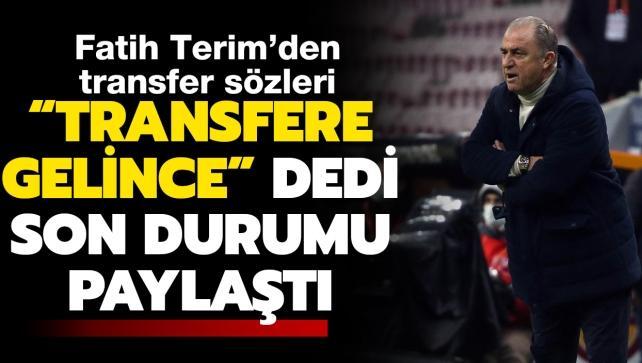 Fatih Terim'den flaş açıklamalar! Transfer...