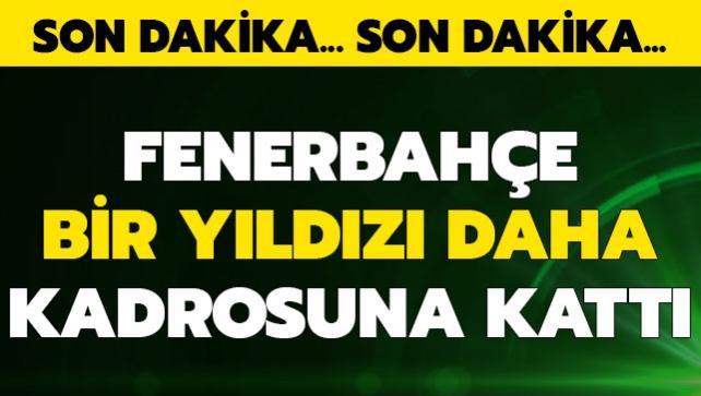 Fenerbahçe yıldız oyuncuyu resmen açıkladı