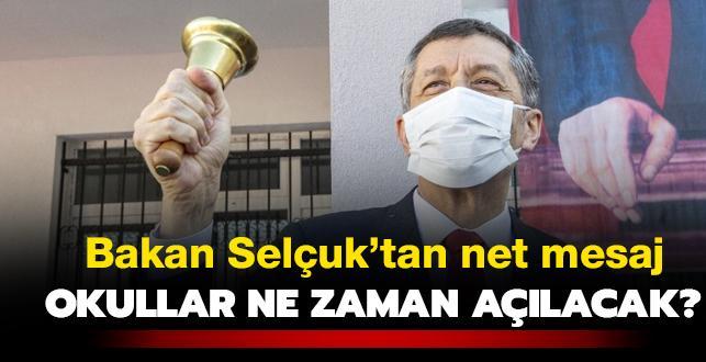 Son dakika haberi: Milli Eğitim Bakanı Selçuk'tan net mesaj: Yüz yüze eğitimde 15 Şubat'tı işaret etti