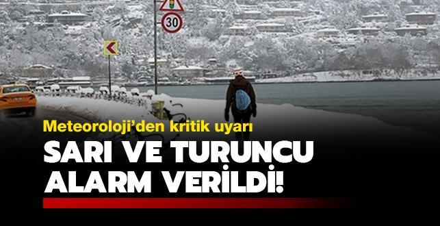 Meteoroloji'den İstanbul ve çok sayıda il için kritik uyarı! Turuncu alarm verildi!
