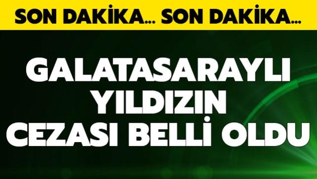 Galatasaray'a kötü haber geldi! Yıldız oyuncu 2 maç ceza aldı...