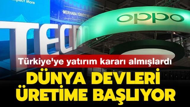 Türkiye'ye yatırım kararı almışlardı: Dünya devleri üretime başlıyor