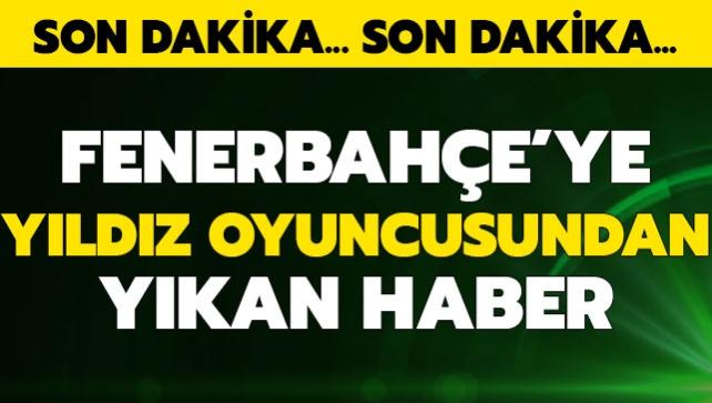 Fenerbahçe'ye yıldız oyuncusundan kötü haber