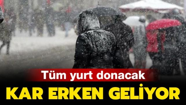 Meteoroloji'den kar yağışı uyarısı! İstanbul ve birçok ilde etkisini sürdürecek