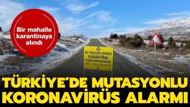 Son dakika haberi: Diyarbakır'da mutasyonlu koronavirüs alarmı: Bir mahalle karantinaya alındı
