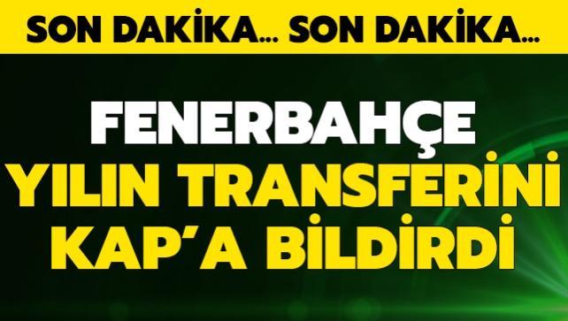 F.Bahçe yılın transferini az önce KAP'a bildirdi