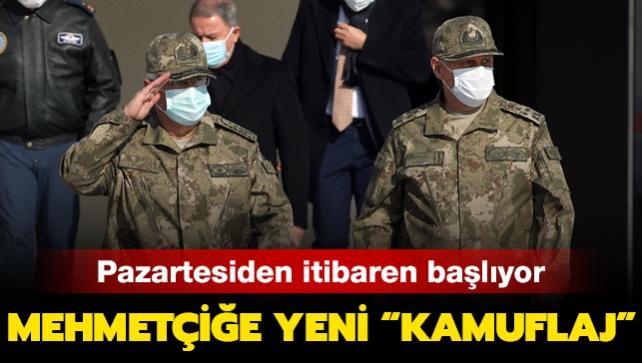 Pazartesiden itibaren başlıyor: Mehmetçiğe yeni 'kamuflaj'