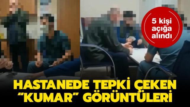 Hastanede tepki çeken 'kumar' görüntüleri: 5 kişi açığa alındı
