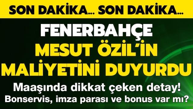 Fener Özil'in maliyetini açıkladı! Maaşında dikkat çeken detay