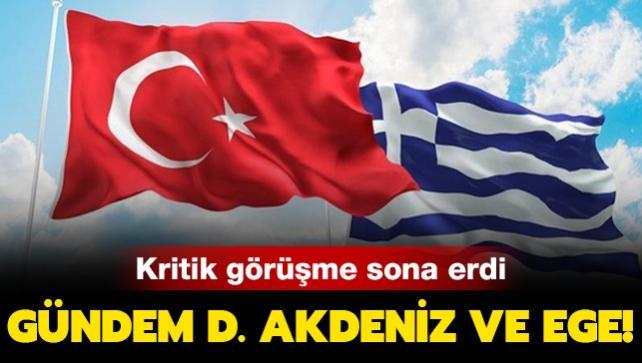 Türkiye-Yunanistan istikşafi görüşmesi sona erdi