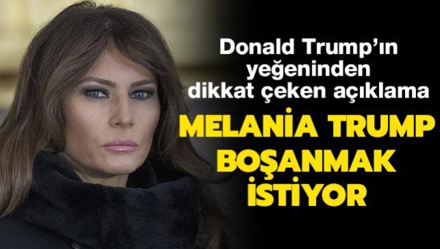 Donald Trump'ın yeğeninden dikkat çeken açıklama: Melania Trump boşanmak istiyor