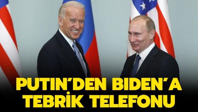 Putin, ABD Başkanı Biden'ı tebrik etti