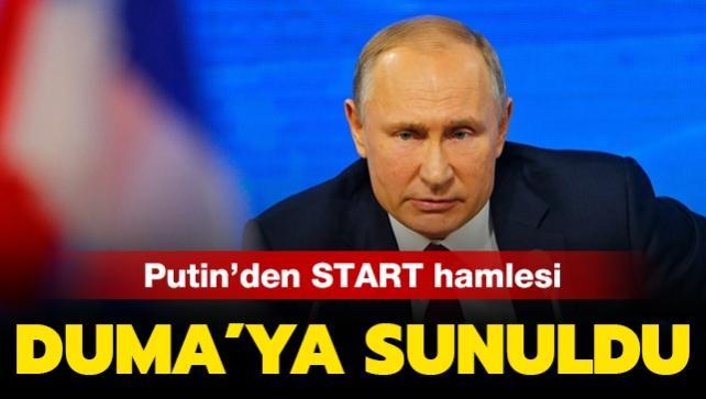 Putin'den START hamlesi: Duma'nın onayına sunuldu