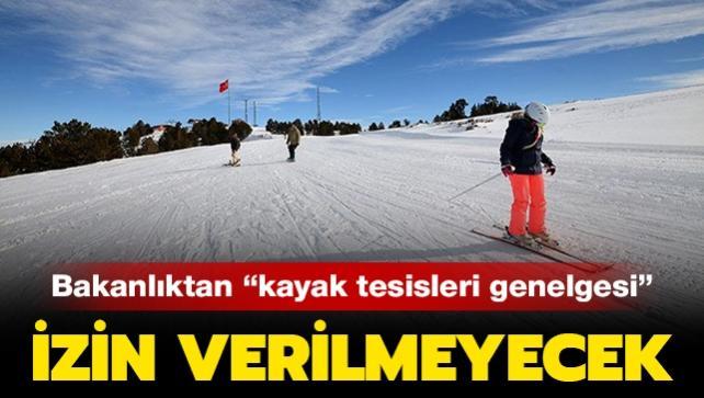 İçişleri Bakanlığı'ndan kayak tesislerine genelge!