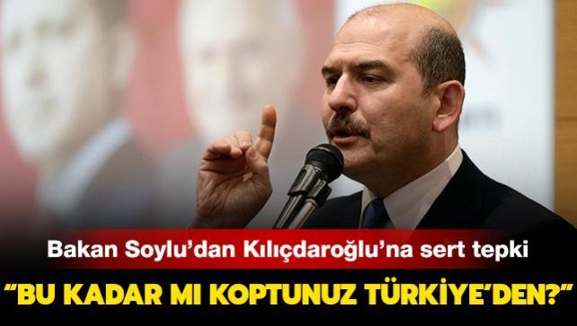 Bakan Soylu'dan Kılıçdaroğlu'na 'militan' tepkisi: 'Bu kadar mı koptunuz Türkiye'den?'