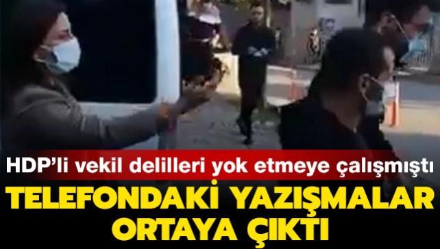 HDP'li vekil el çabukluğuyla delilleri yok etmek istemişti... Örgütsel yazışmalar tespit edildi