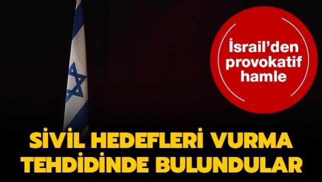 İsrail'den tehdit... 'Lübnan ve Gazze'de sivil hedefleri vurabiliriz'