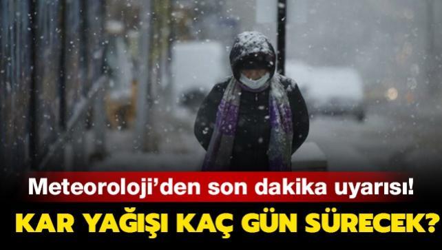 Kar yağışı kaç gün sürecek? İstanbullular için önemli uyarı!