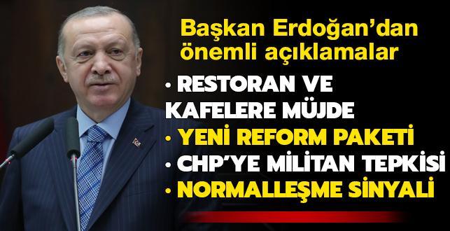 Son dakika haberi... Başkan Erdoğan'dan lokanta, restoran ve kafelere müjde: Destek ödemesi yapacağız