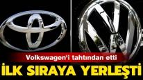Japon Toyota, Alman Volkswagen'i tahtından etti... İlk sıraya yerleşti