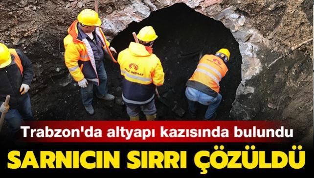 Trabzon'da altyapı kazısında bulundu: Tarihi sarnıcın sırrı çözüldü