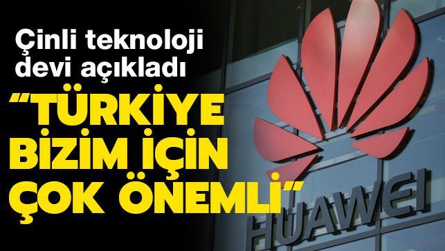 """""""Çin dışındaki en büyük Ar-Ge merkezi dedi"""" ve ekledi: """"Türkiye bizim için büyük öneme sahip"""""""