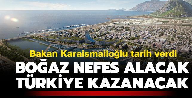 """Ulaştırma ve Altyapı Bakanı Karaismailoğlu'dan 'Kanal İstanbul' açıklaması: """"2021'de kazma vurmak için çalışıyoruz"""""""