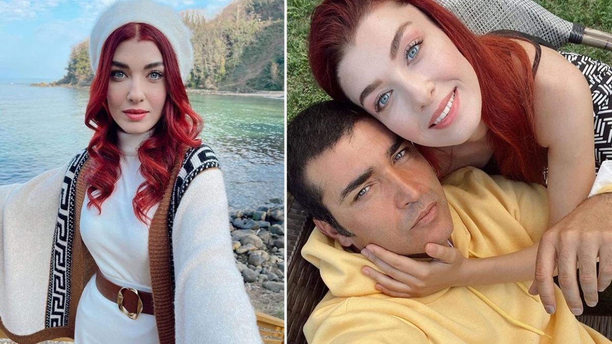 Kuzey Yıldızı İlk Aşk'ın Yıldız'ı Aslıhan Güner'den Mert Kılıç'a romantik evlilik yıl dönümü kutlaması