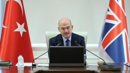 İçişleri Bakanı Soylu, İngiliz mevkidaşıyla görüştü