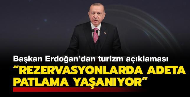 Başkan Erdoğan'dan turizm açıklaması