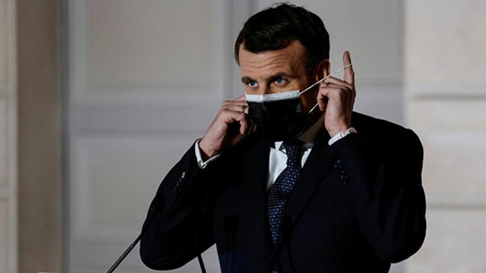 Macron: AstraZeneca'ya sipariş taahhüdünü yerine getirmesi için baskı uyguladık