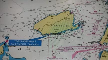 Çanakkale'nin Gökçeada ilçesinde tekne battı