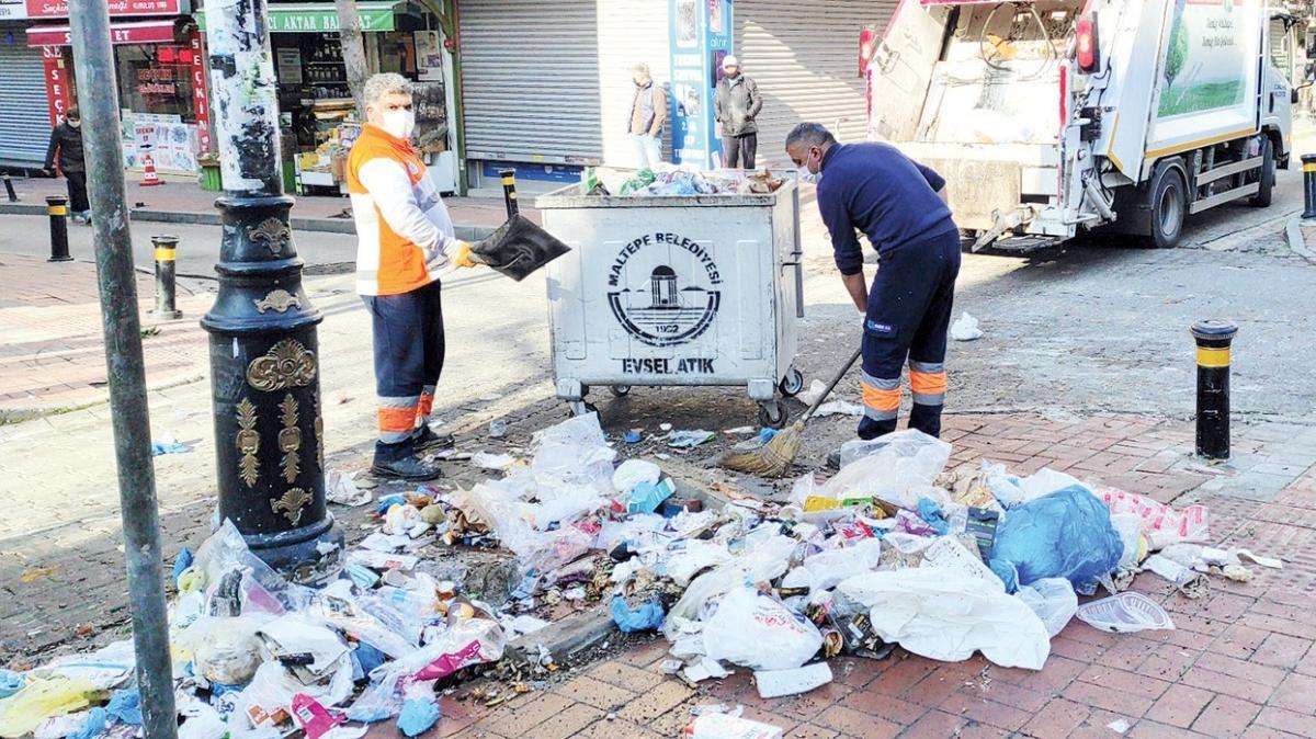 Grev bitti, 7. günde çöpler toplanıyor